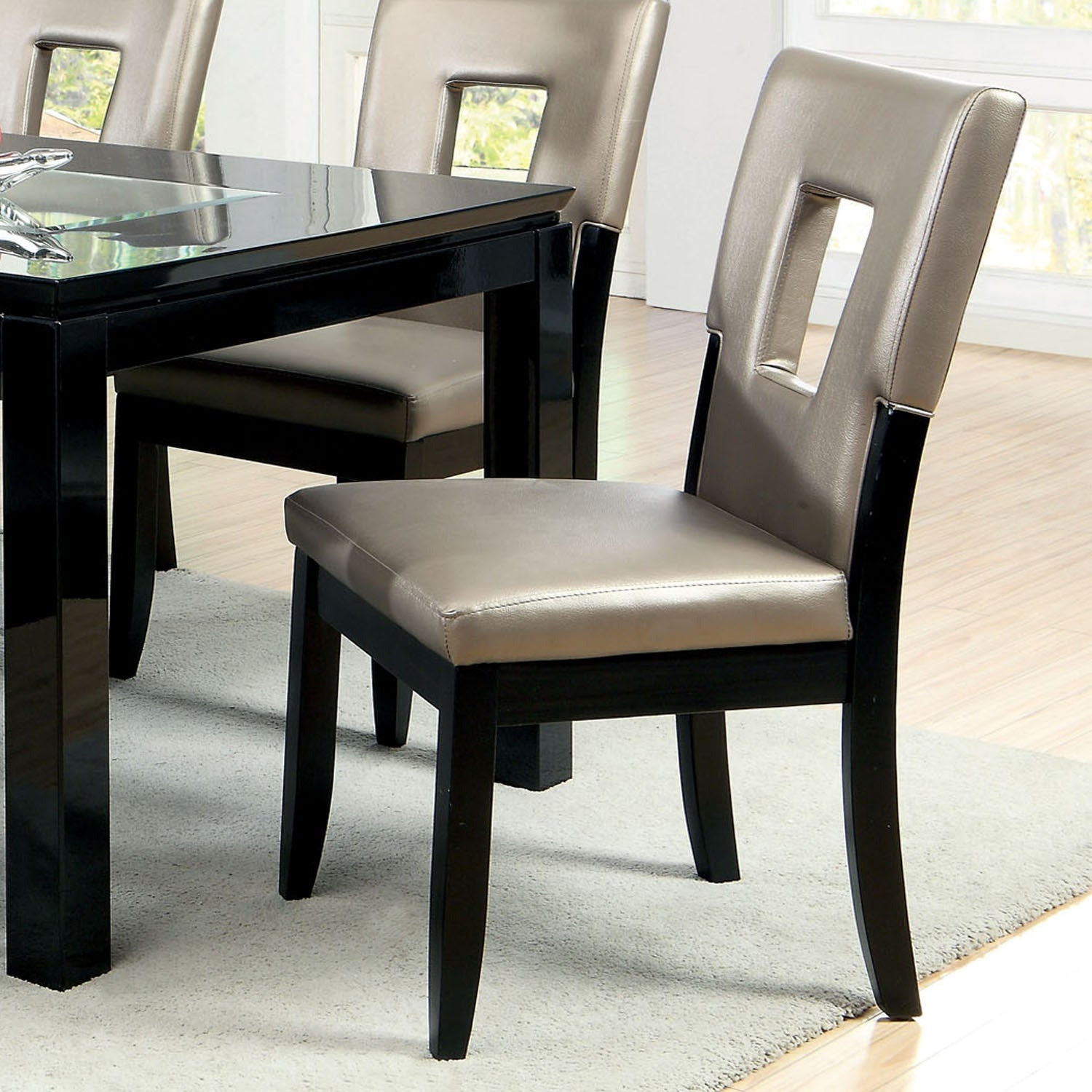Overstock Dining Room Chairs: Shop Furniture Of America Evantel Keyhole Leatherette