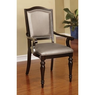 Furniture of America Harllington Leatherette Arm Chair (Set of 2)