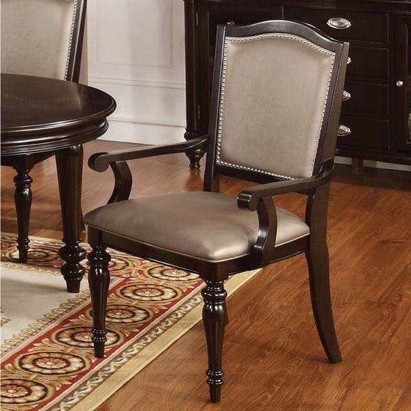 Furniture of america harllington leatherette arm chair