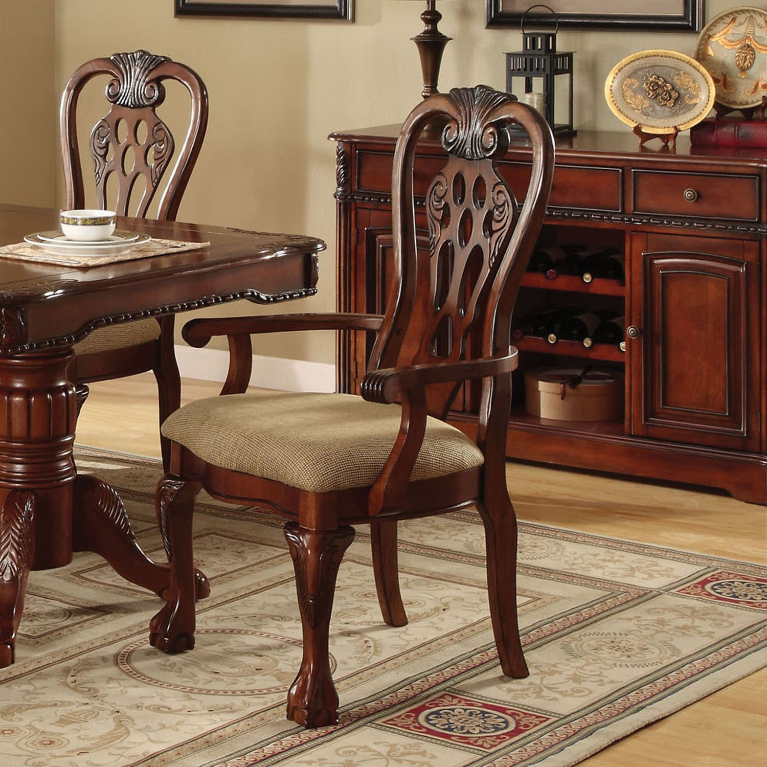 Furniture Of America Mallory Formal Cherry Red: Shop Furniture Of America Harper Cherry Arm Chair (Set Of
