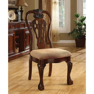 Furniture of America Harper Cherry Dining Side Chair (Set of 2)