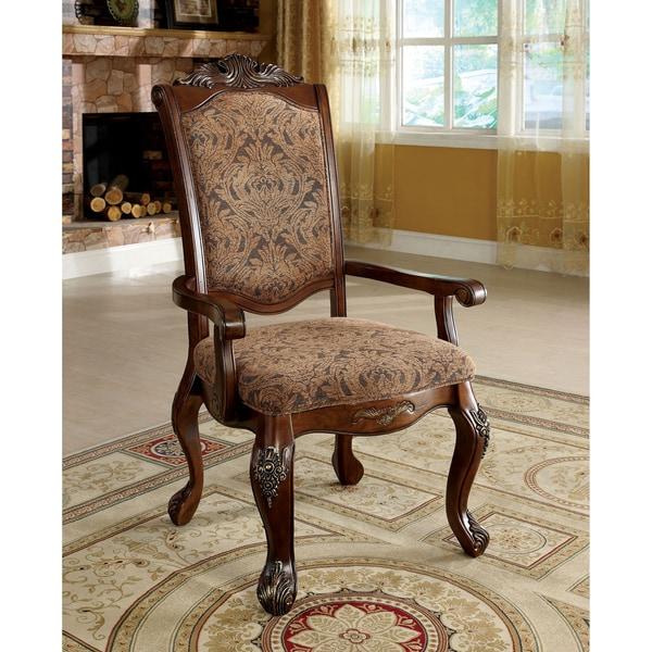 Missoni Home Dining Chair Miss: Furniture Of America Eiko Antique Cherry Elegant Arm Chair