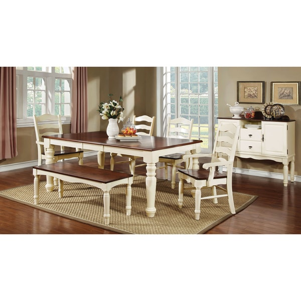 Country Style Dining Set: Furniture Of America Palister 6-piece Country Style Dining