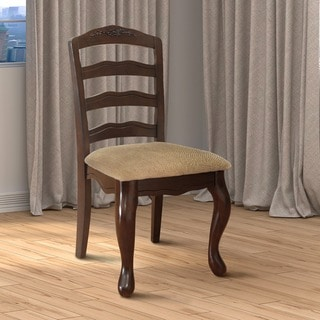 Furniture of America Shak Traditional Walnut Dining Chairs Set of 2