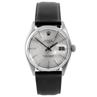 Pre-Owned Rolex Men's 1500 Date Watch Dial and Black Leather Strap