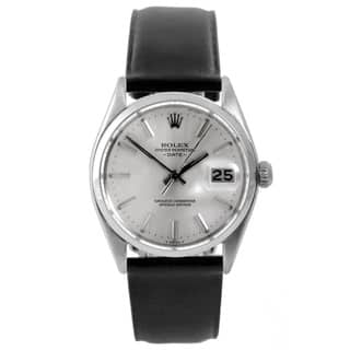 Pre-Owned Rolex Men's 1500 Date Watch Dial and Black Leather Strap|https://ak1.ostkcdn.com/images/products/9148628/Pre-Owned-Rolex-Mens-1500-Date-Watch-Dial-and-Black-Leather-Strap-P16328827.jpg?impolicy=medium