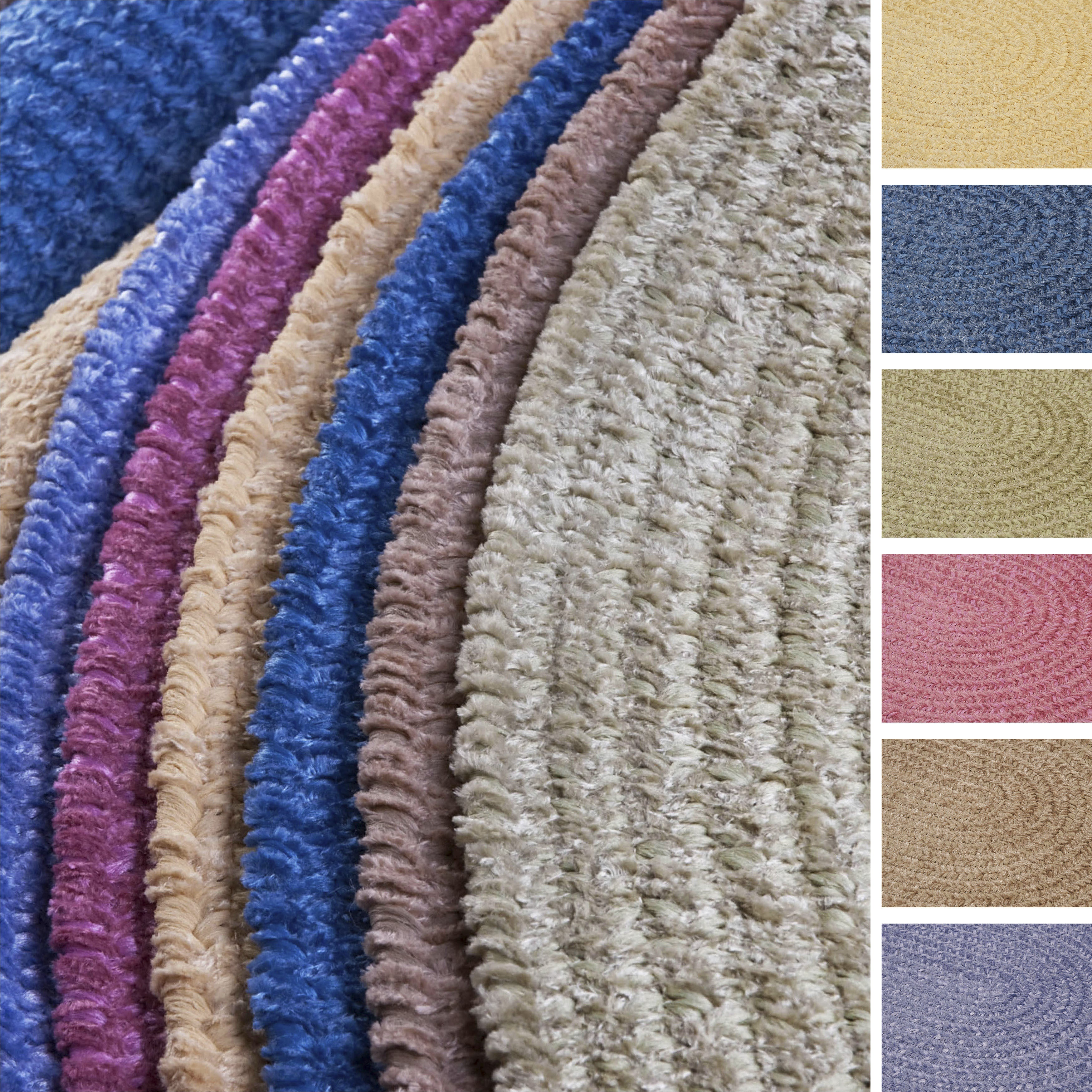 Colonial Mills Soft Chenille Braided Reversible Rug USA M...
