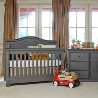 gray nursery furniture. million dollar baby classic louis 4in1 convertible crib with toddler bed conversion gray nursery furniture