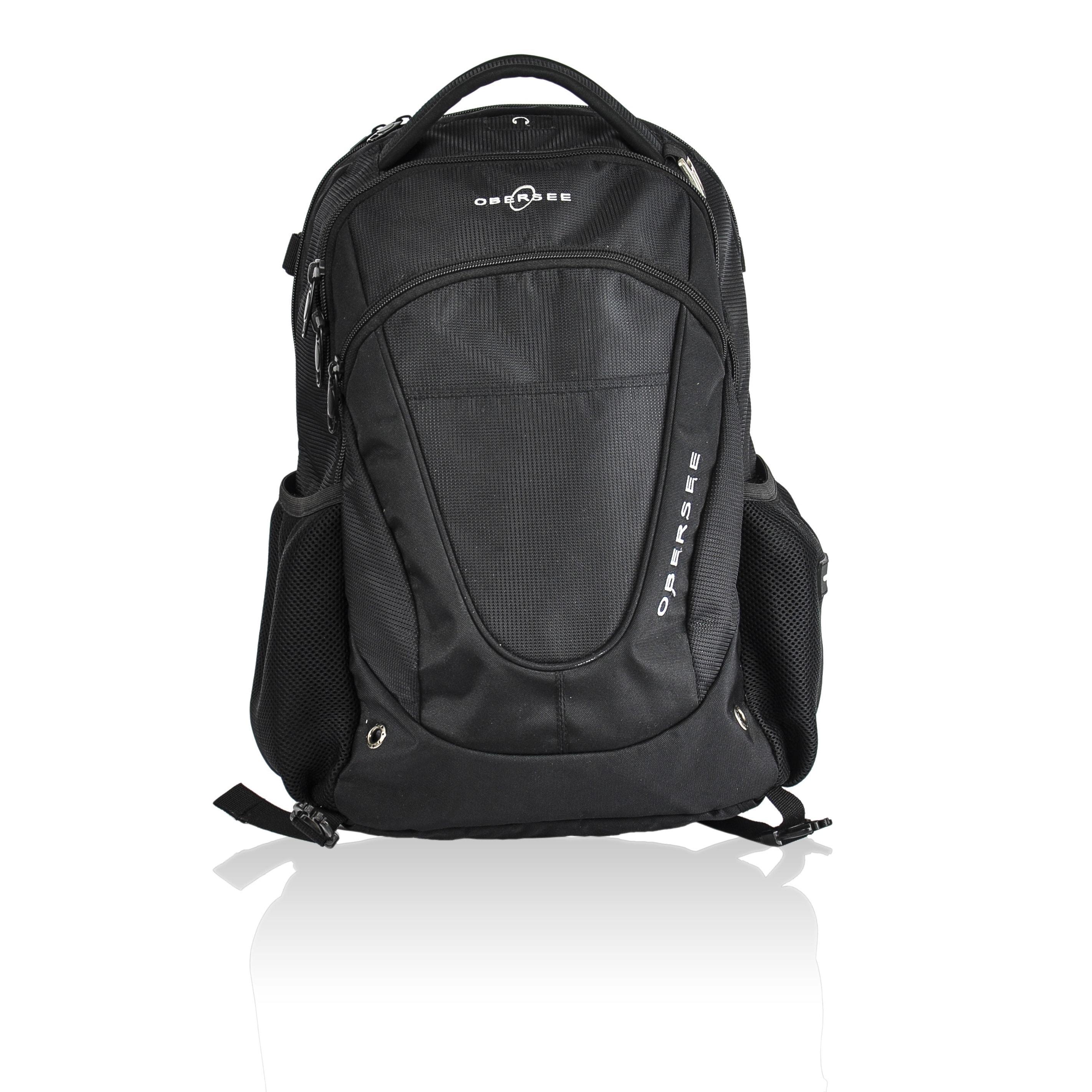 Obersee Oslo Diaper Bag Backpack (Black)