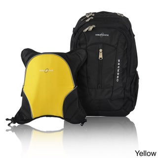 Obersee Bern Diaper Bag Backpack with Detachable Cooler (Option: Yellow / Black)