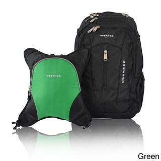 Obersee Bern Diaper Bag Backpack with Detachable Cooler (Option: Green / Black)