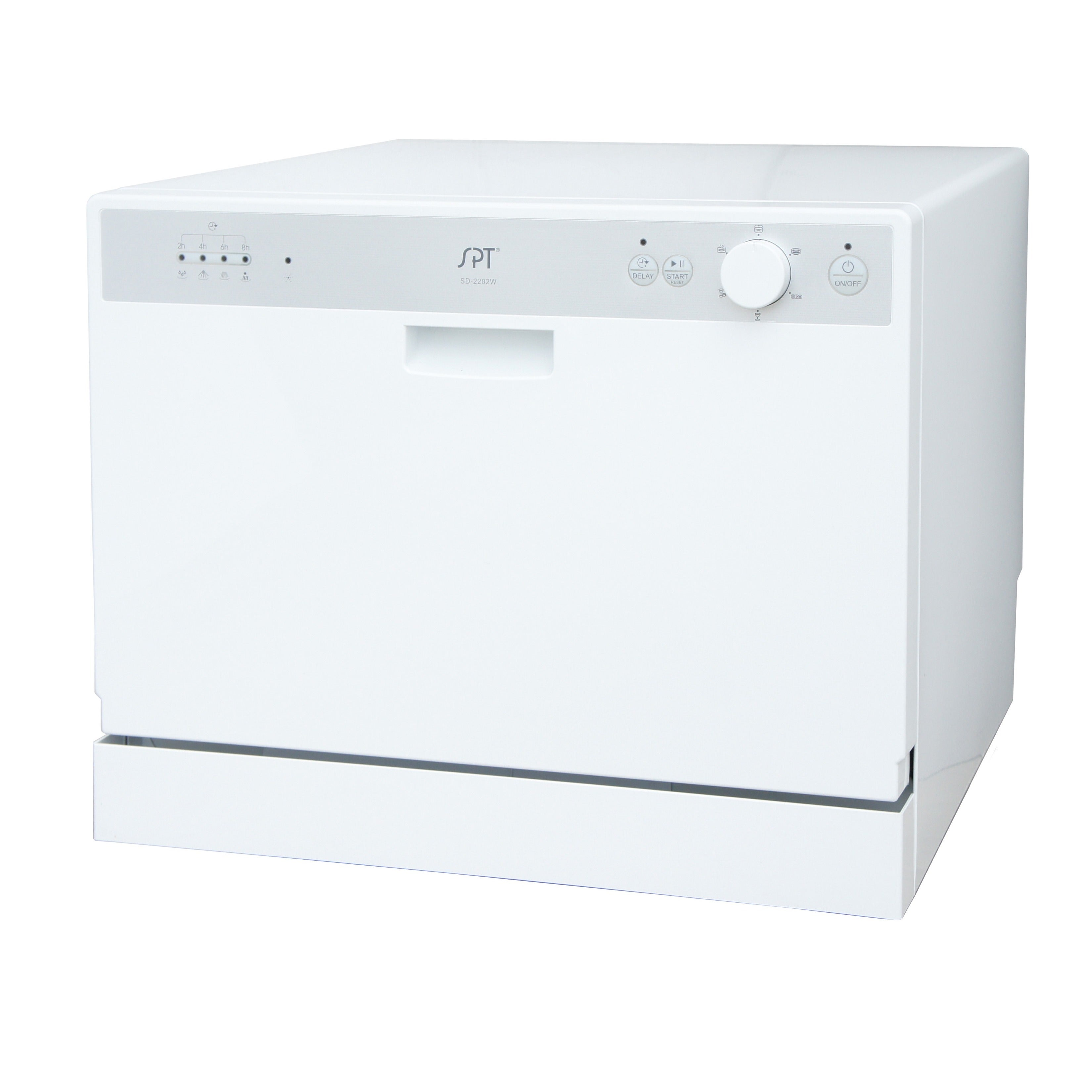 SPT SD-2202W White Countertop Dishwasher with Delay Start...