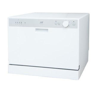 SPT SD-2202W White Countertop Dishwasher with Delay Start