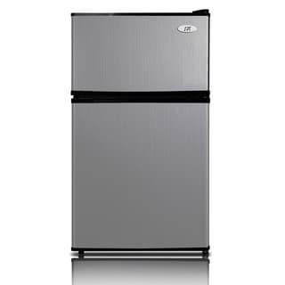 SPT Energy Star 3.1 Cubic Foot Double Door Stainless Steel Refrigerator