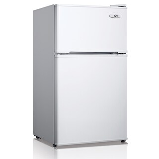 SPT Energy Star 3.1 Cubic Foot Double Door White Refrigerator