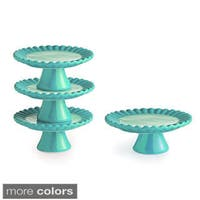 Ruffle (Set of 4) Cup Cake Pedestal Plates