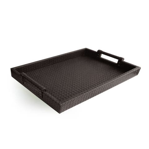 Leather Tray with Handles