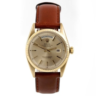 Pre-owned Rolex Men's Presidential Champagne Dial Automatic Watch