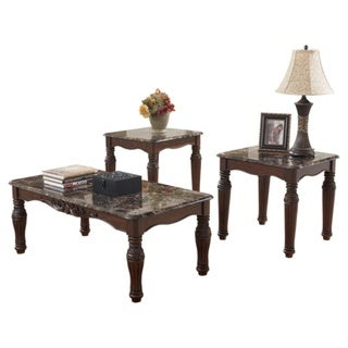 Signature Designs by Ashley North Shore Dark Brown 3-piece Occasional Table Set
