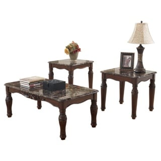 Signature Designs By Ashley North Shore Dark Brown 3 Piece Occasional Table  Set