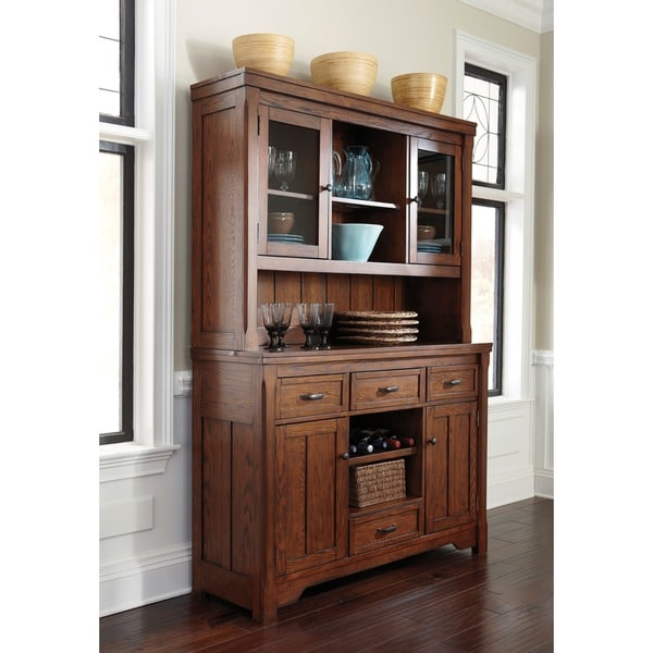 Dining Room Buffet Hutch: Signature Designs By Ashley Chimerin Medium Brown Dining