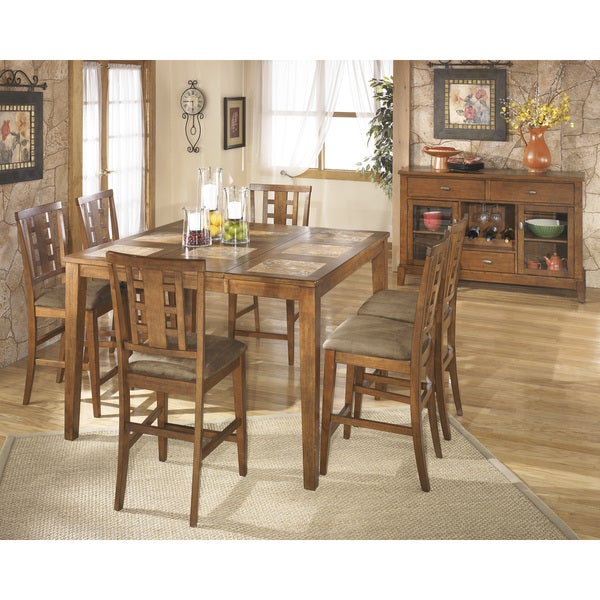 Signature Designs By Ashley Tucker Counter Height Dining Room Extension Table