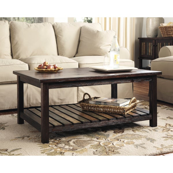 Ashley Furniture Distressed Coffee Table: Shop Signature Design By Ashley Mestler Rectangular