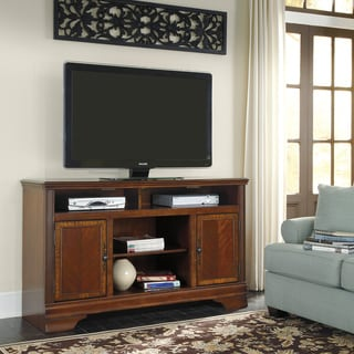 Signature Designs by Ashley Hamlyn Cherry Veneer TV Stand