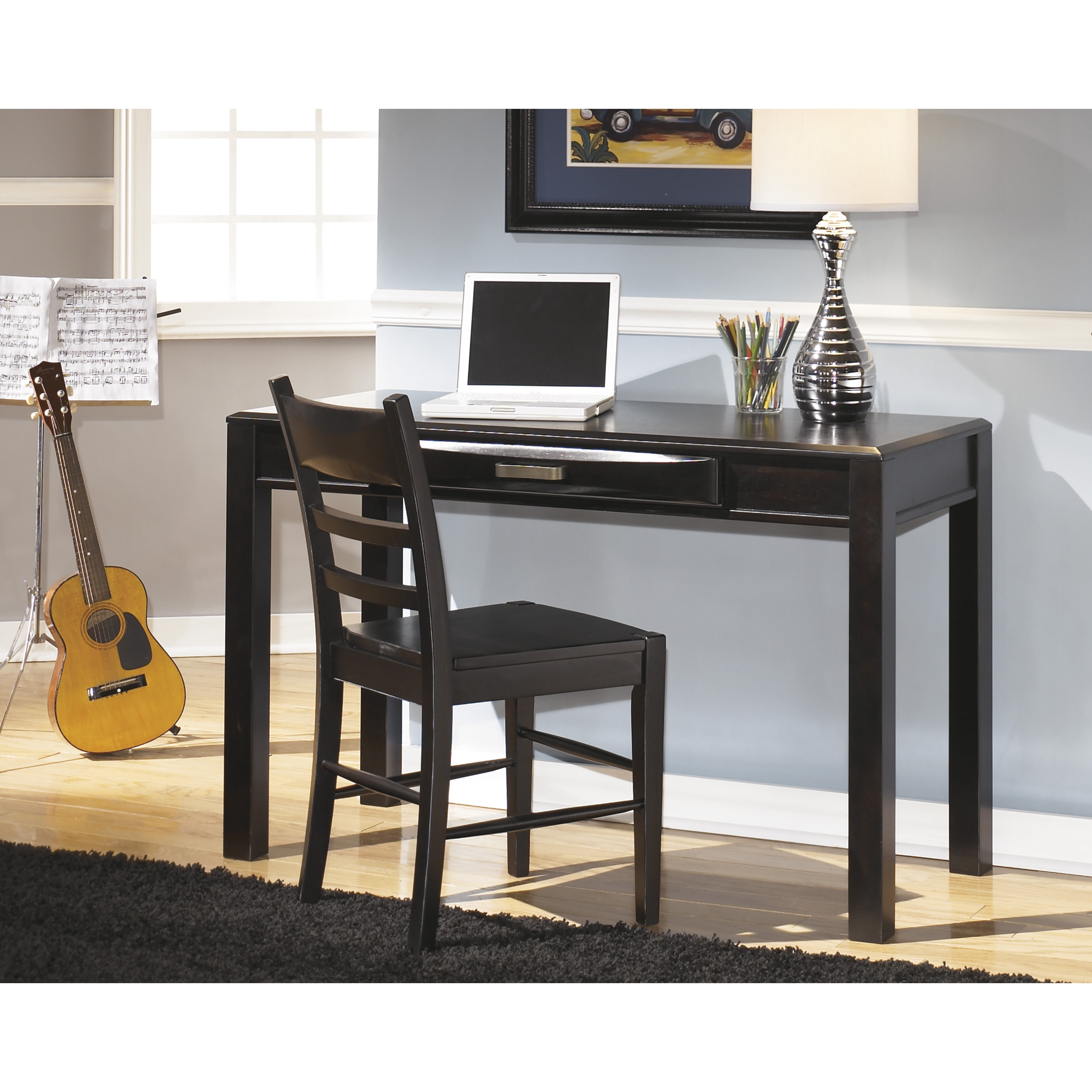 Signature Designs by Ashley Kira Black Bedroom Desk and Chair