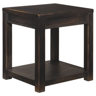 Gavelston Square Black End Table
