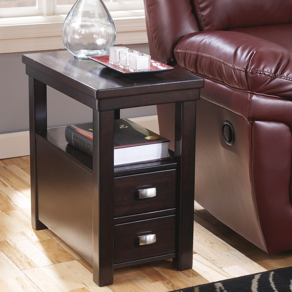 Signature Designs By Ashley Hatsuko Espresso Chair Side End Table