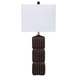Signature Designs by Ashley Ranissa Dark Brown Ceramic Table Lamps (Set of 2)