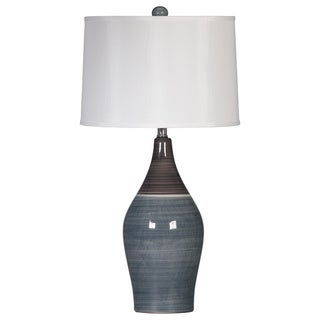 Niobe Two-tone Grey Ceramic Table Lamps (Set of 2)