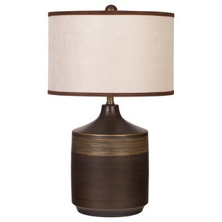 Signature Designs by Ashley Karissa Brown Ceramic Table Lamp (Set of 2)