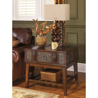 Signature Designs by Ashley McKenna Rectangular Dark Brown End Table