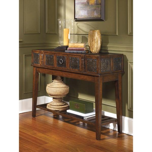 Signature Designs By Ashley McKenna Dark Brown Sofa Table