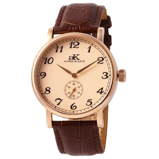 Adee Kaye Men's AK9061-MRG/RG Vintage Salmon Dial Mechanical Watch