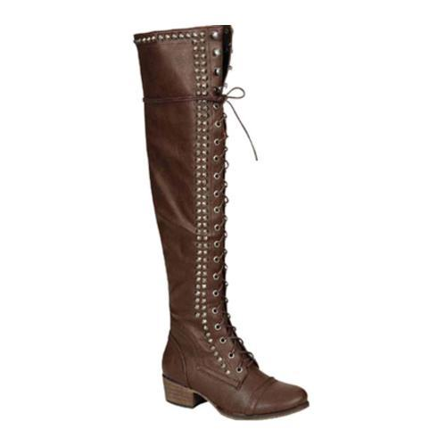 Women's Beston Alabama-13 Brown Faux Leather