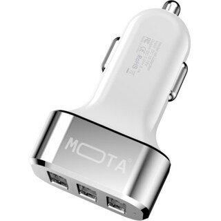 MOTA High speed 3 Port USB Car Charger 5.1A Tablet and Phones - White
