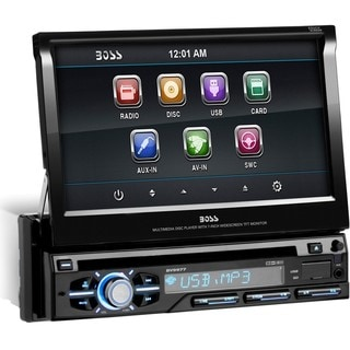 Boss Audio BV9977 Single-DIN 7 inch Motorized Touchscreen DVD Player