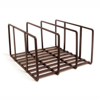 Seville Classics Bronze Iron Kitchen Cabinet & Counter Top Cutting Board Organizer