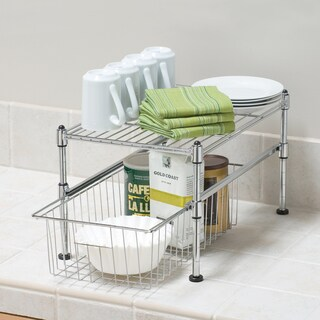 Seville Classics UltraZinc Mini Basket/Shelf Organizer - 11.5x17.5x10