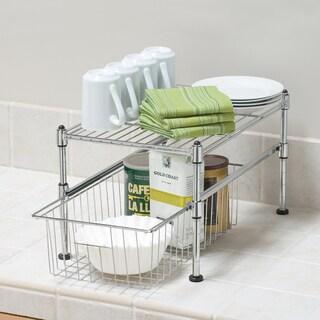 Seville Classics UltraZinc Mini Basket/Shelf Organizer - 11.5x17.5x10