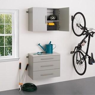 Stone Grey 2-piece Storage Cabinet Set