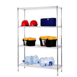 Excel Chrome (72 in. H x 48 in. W x 18 in. D) All Purpose Heavy Duty 4-tier Wire Shelving