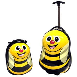Cuties & Pals Cazbi Bee Kids 2-piece Hardside Luggage Set|https://ak1.ostkcdn.com/images/products/9150787/Cuties-Pals-Cazbi-Bee-Kids-2-piece-Hardside-Luggage-Set-P16330642.jpg?impolicy=medium