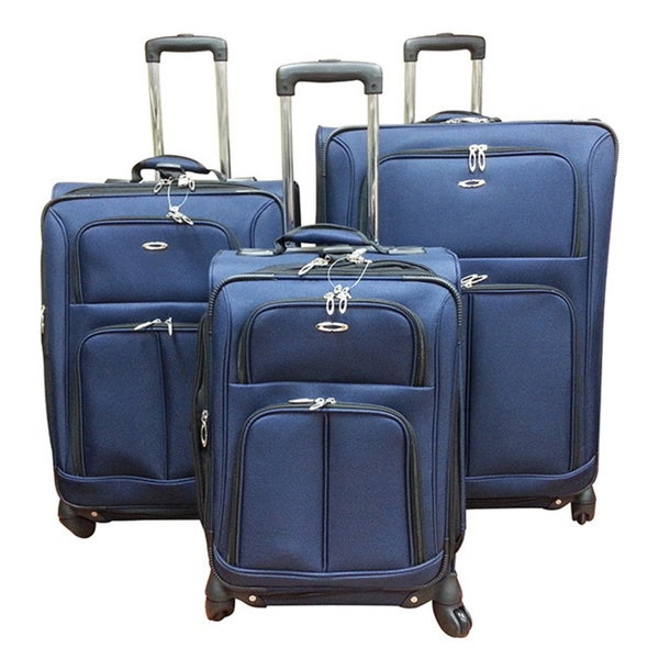 Kemyer 1000 Series 3-piece Expandable Spinner Upright Luggage Set