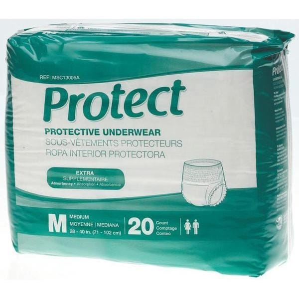 Medline Protect Extra Protective Underwear (Pack of 80)