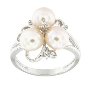 pearl rings engagement wedding and more overstockcom shopping - Pearl Wedding Ring