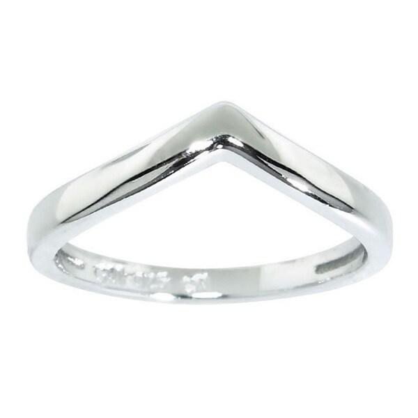 Eternally Haute Sterling Silver Chevron Midi Knuckle Rings